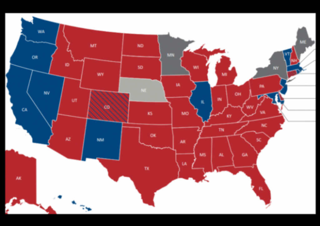 Democrats Devastated At State Level In 2016 Elections with 2016 Electoral Map By State