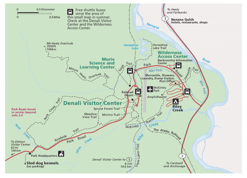 Denali Maps | Npmaps - Just Free Maps, Period. inside Trailview State Park Trail Map