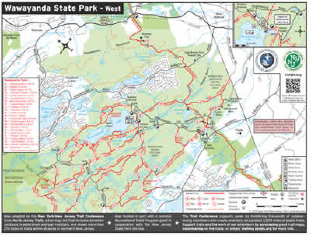 Department Of Environmental Protection intended for Wawayanda State Park Hiking Trail Map