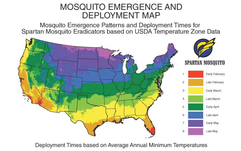 Deployment Instructions - Spartan Mosquito Eradicator with Mosquito Population By State Map