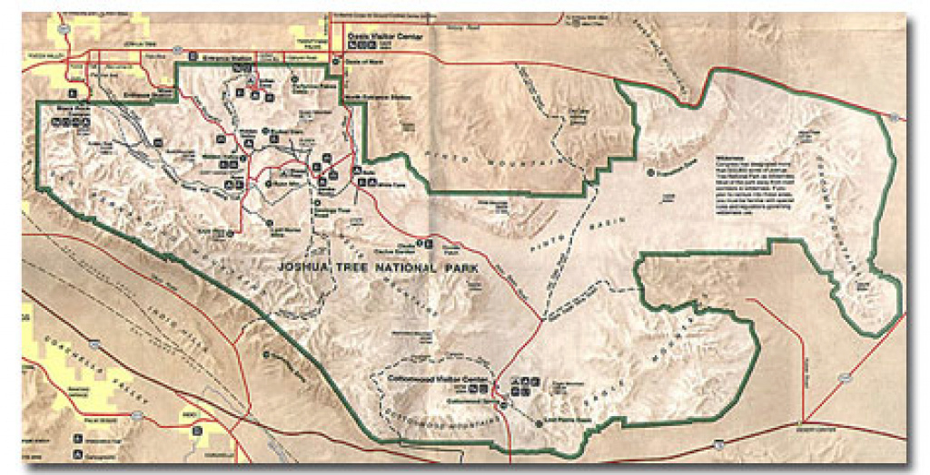 Desert Maps - National Park Maps - Pdf - Desertusa intended for Anza Borrego Desert State Park Map Pdf