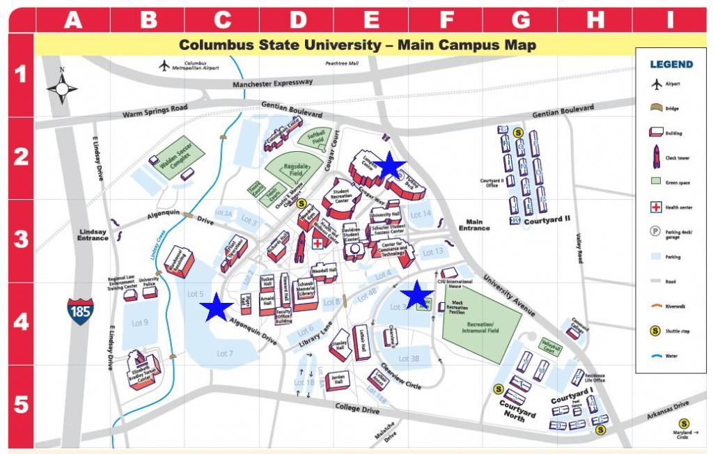 Designated Smoking Areas - Smoke-Free Policy - Columbus State within Columbus State Campus Map