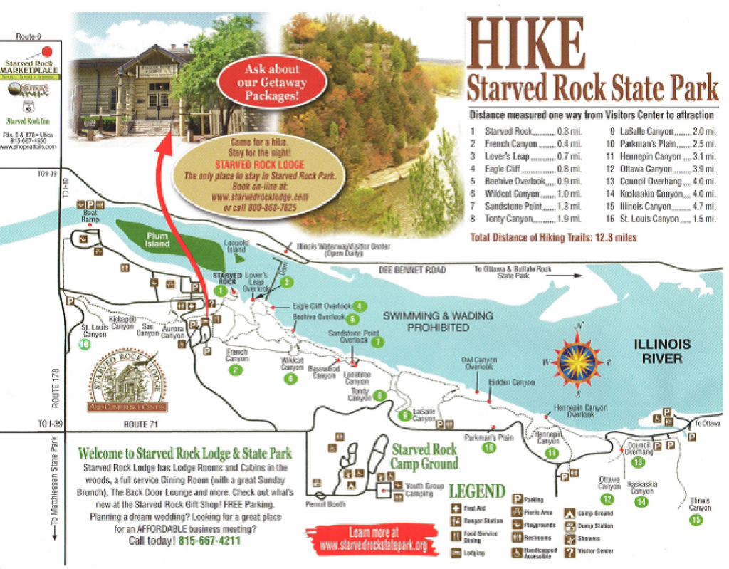 Destinations You Love To Visit: Starved Rock State Park | Travel for Starved Rock State Park Trail Map