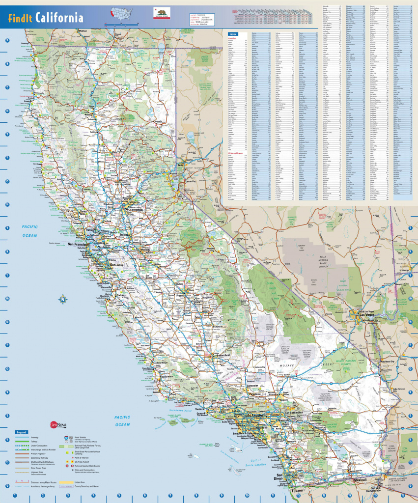 Detailed Road Map Of California Road Map California Highway Map Pdf with regard to Printable State Road Maps