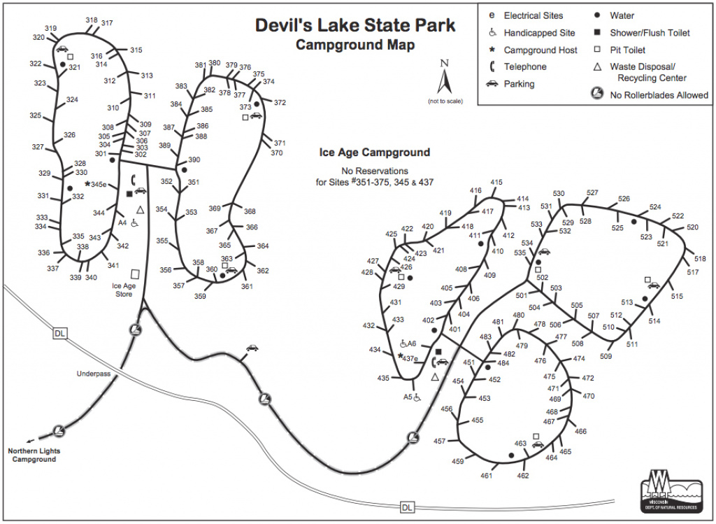 Devils Lake Camping Info: Campground Descriptions And Maps pertaining to Wisconsin State Campgrounds Map