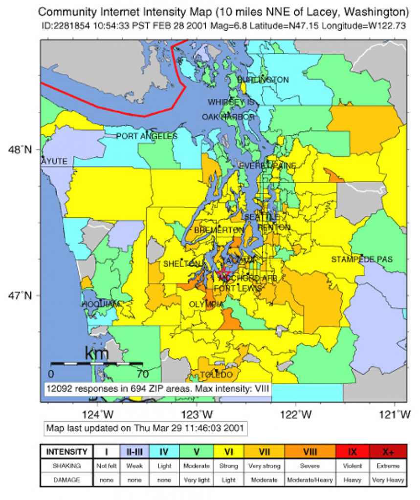Did You Feel It? Community-Made Earthquake Shaking Maps | Usgs Fact with Usgs Earthquake Map Washington State