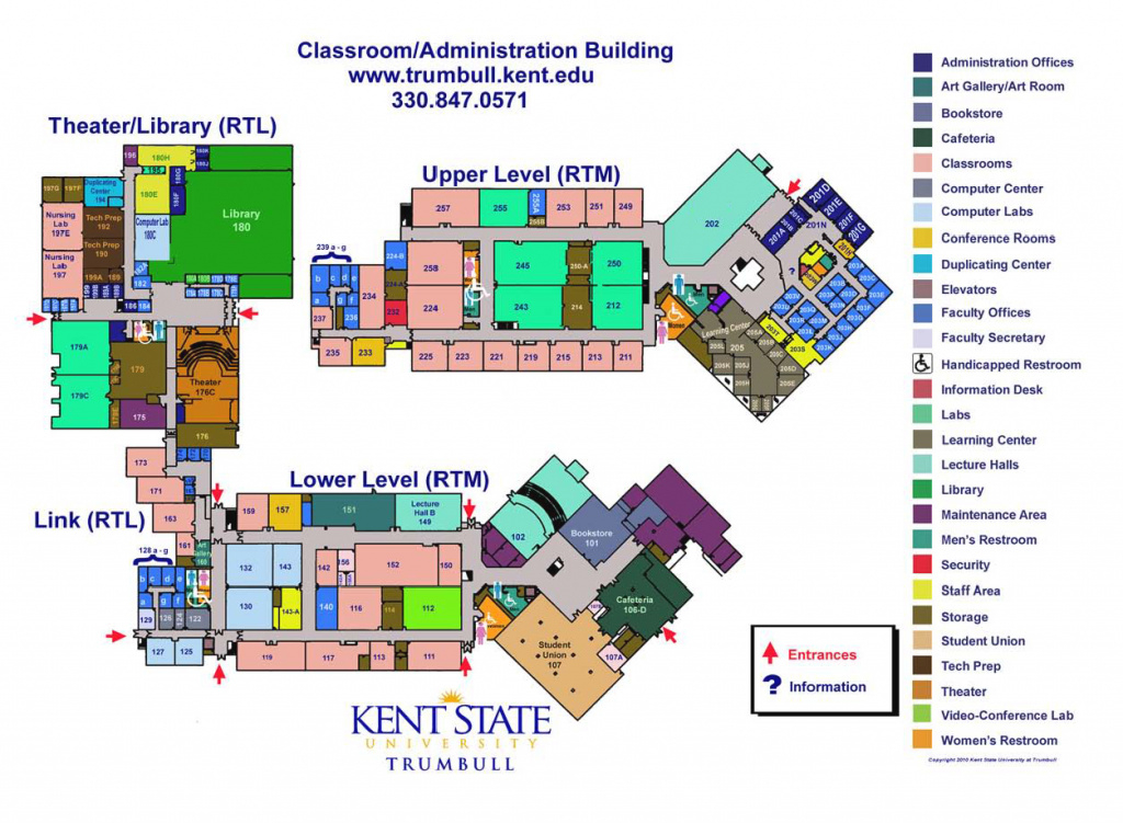 Directions & Maps | Kent State Trumbull | Kent State University in Kent State University Map Pdf