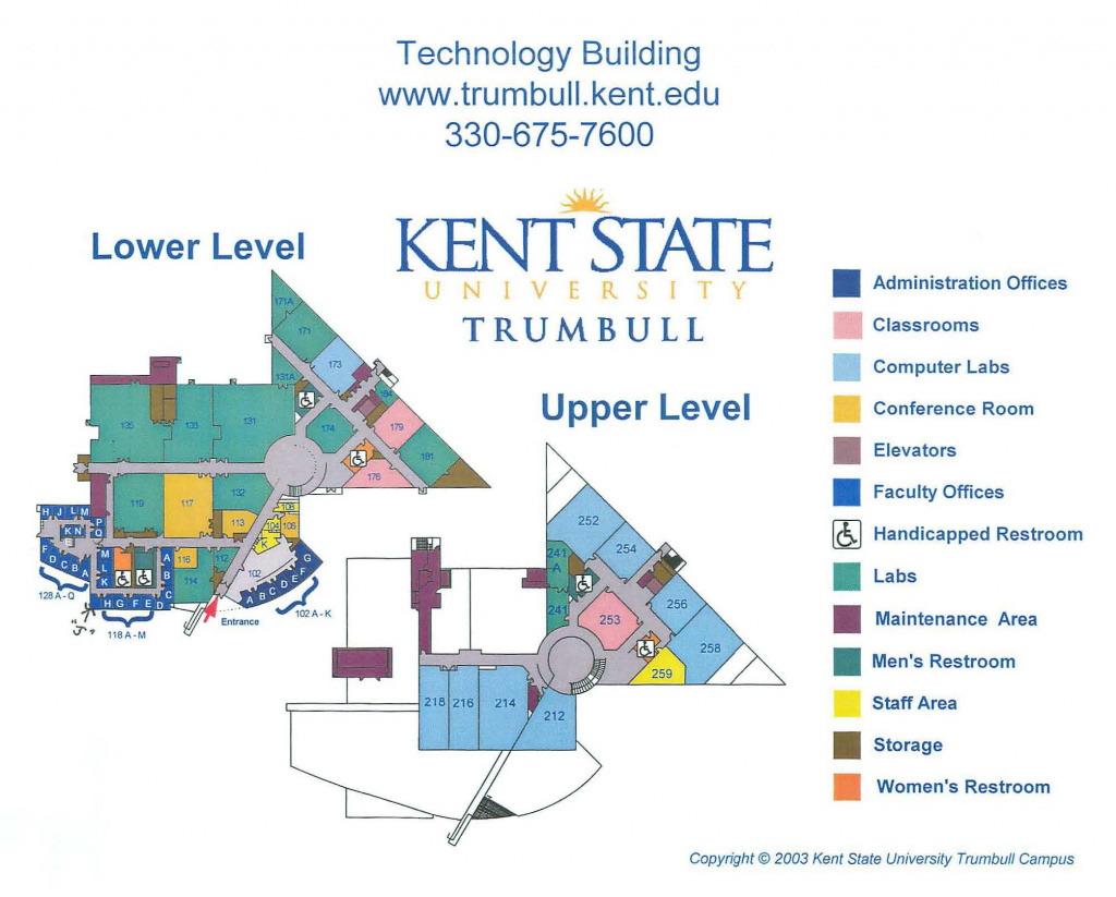 Directions & Maps | Kent State Trumbull | Kent State University inside Kent State University Map Pdf