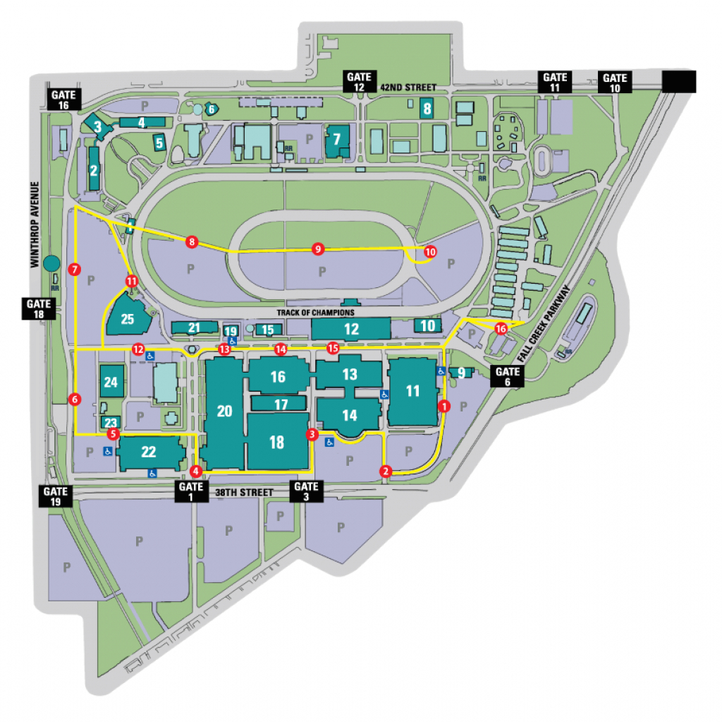 Directions & Parking - Indiana State Fair with Indiana State Fair Map
