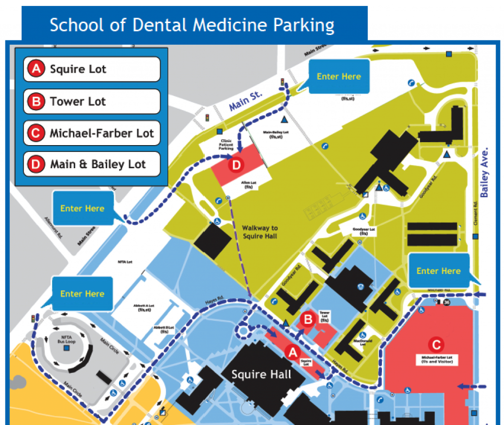 Directions & Parking - School Of Dental Medicine - University At Buffalo pertaining to Buffalo State College Parking Map