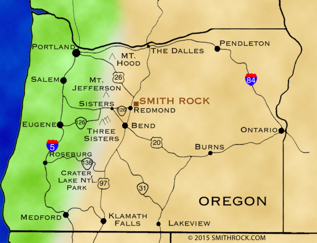 Directions — Smithrock | Smith Rock State Park Guide | Smith within Oregon State Parks Map