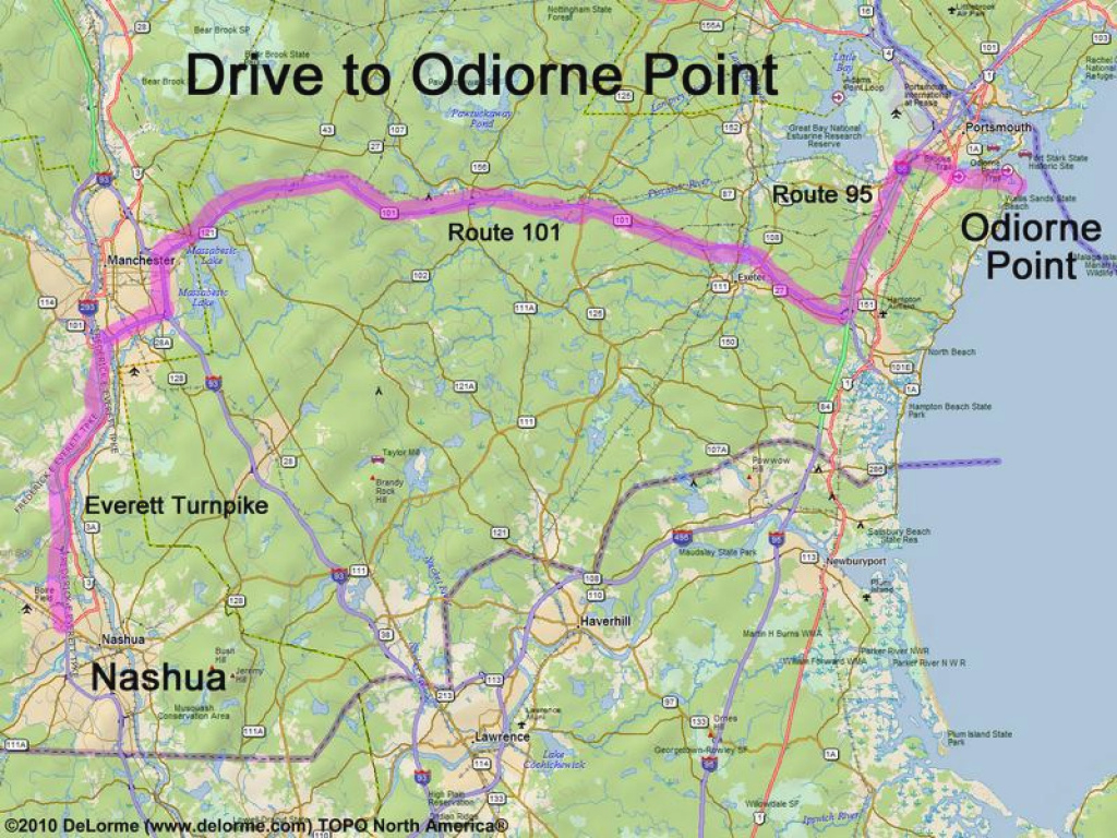 Directions To Odiorne Point State Park intended for Odiorne State Park Trail Map