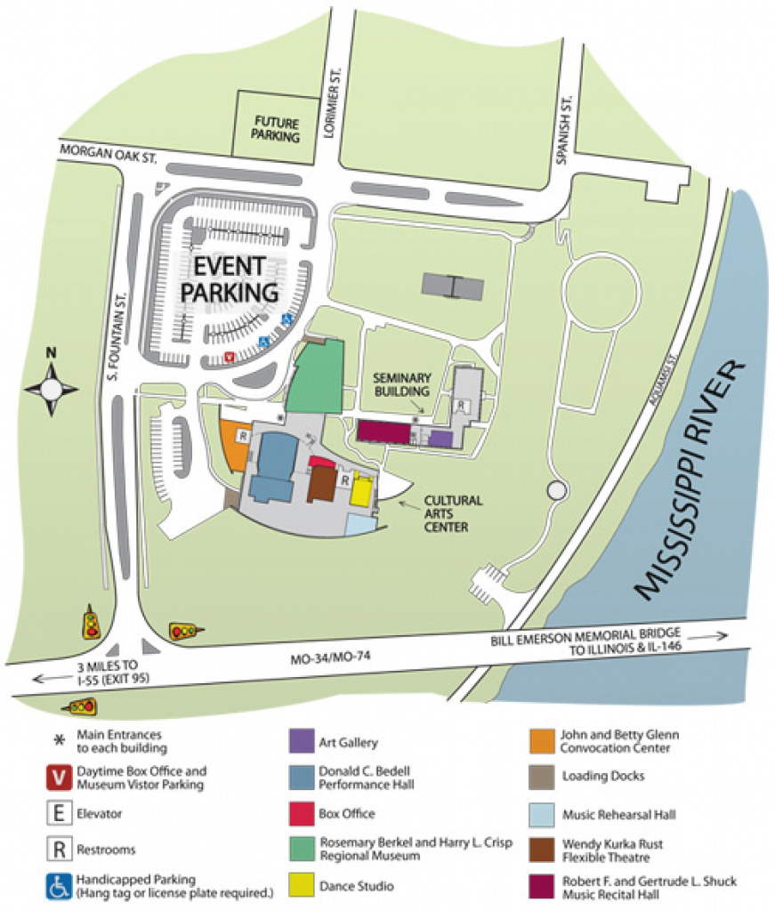 Directions To River Campus Content - Southeast Missouri State University with regard to Missouri State Parking Map