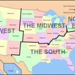 Dissecting The Regions In United States – The West Coast, East Coast In Map Of Usa Showing All States