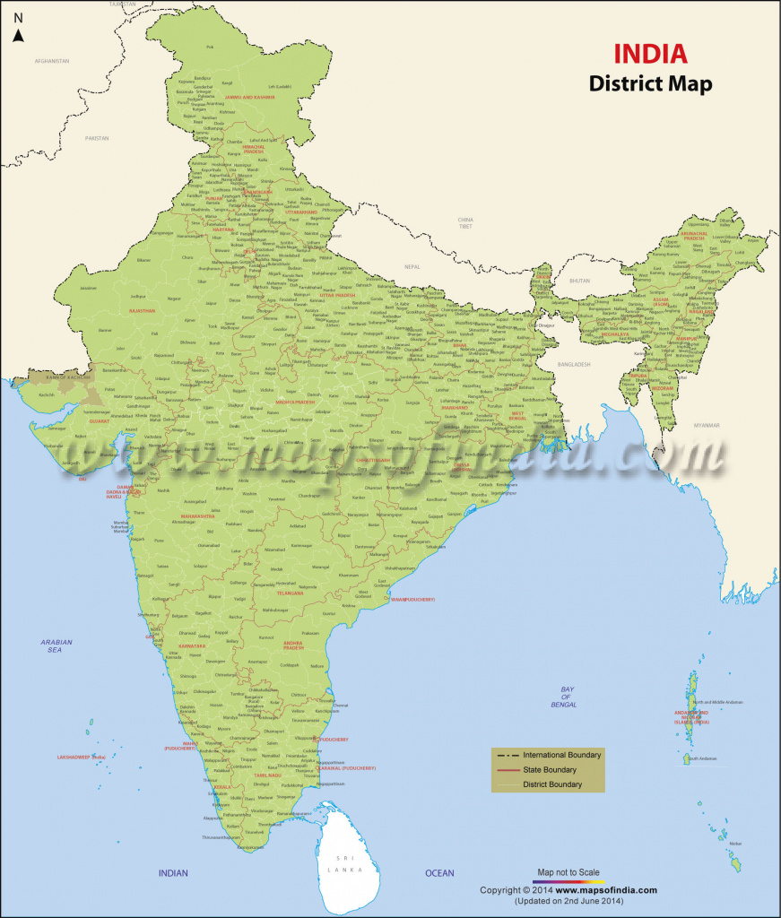 Districts Of India, India Districts Map intended for India Map Pdf With States