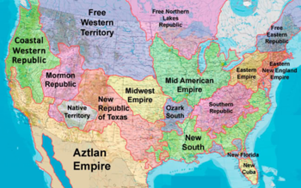 Divided States Of America - Tv Tropes intended for Disunited States Of America Map