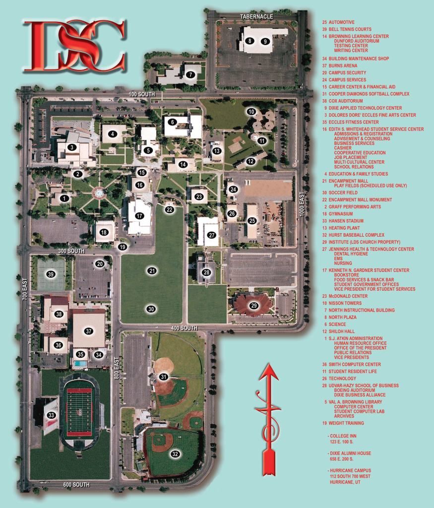 Dixie State College Campus Map - Dixie State College Ut • Mappery pertaining to Dixie State University Campus Map