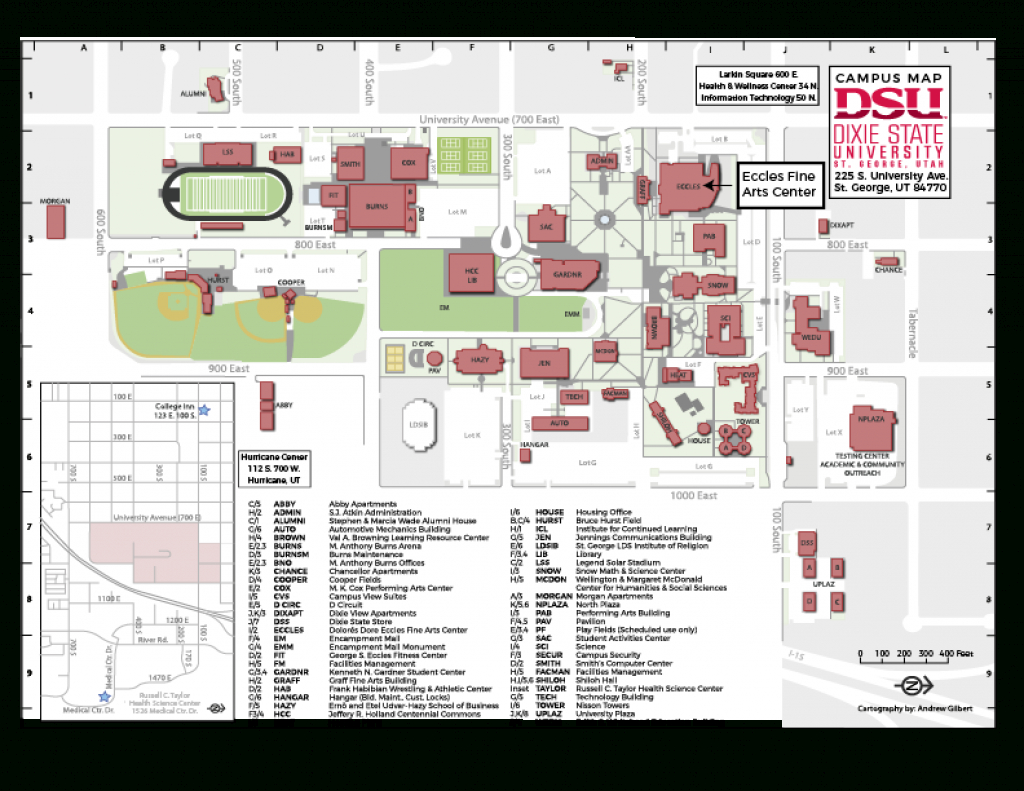 Dixie State University :: New Student Orientation :: Before You Arrive in Dixie State University Campus Map