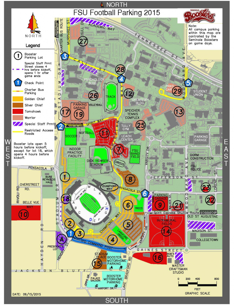 Doak Campbell Stadium Seating & Parking | Tallahassee Seminole Club for Florida State Parking Map