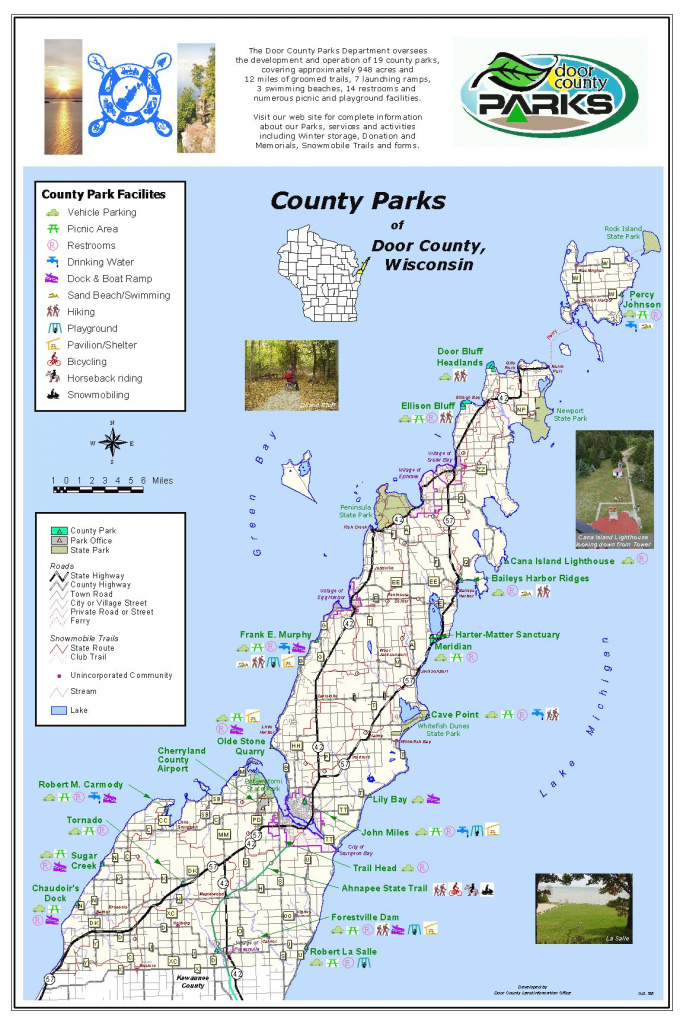 Door County Park Map with regard to Wisconsin State Campgrounds Map