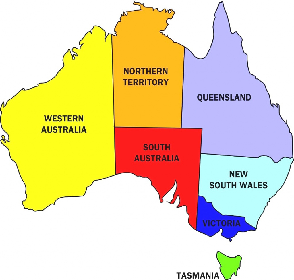 Download Australian States And Territories Map Major Tourist In Of within Australian States And Territories Map