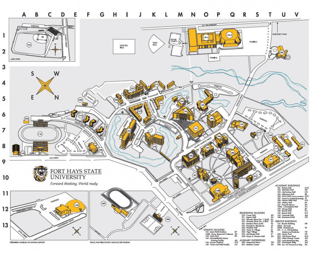 Download Fhsu Campus Map Pdf - Fhsu with regard to Map Of Fort Robinson State Park