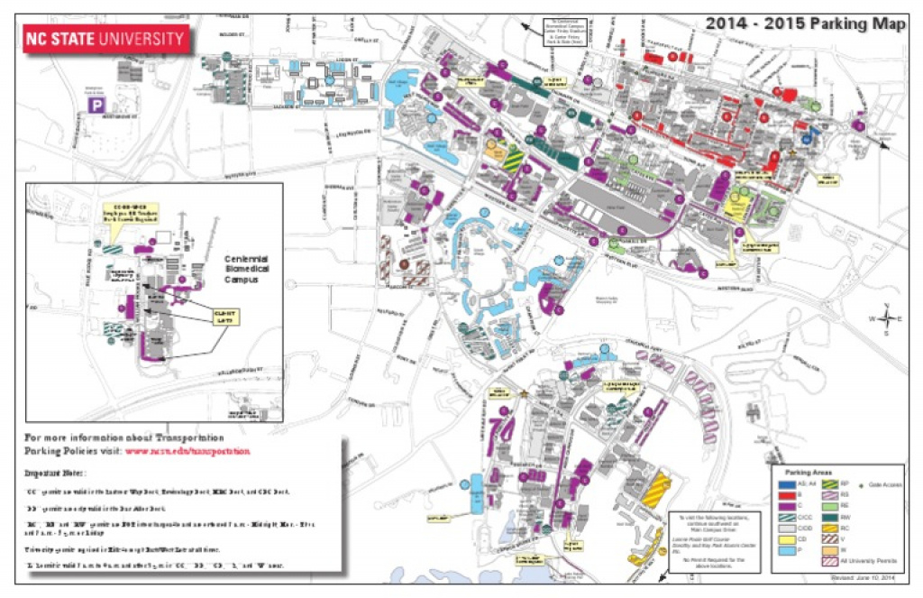 Download Ncsu Parking Map (2014-2015) - Docshare.tips with regard to Nc State Parking Map
