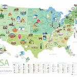 Download This Free Poster Of Famous U.s. Landmarks | Shareamerica Pertaining To United States Industry Map