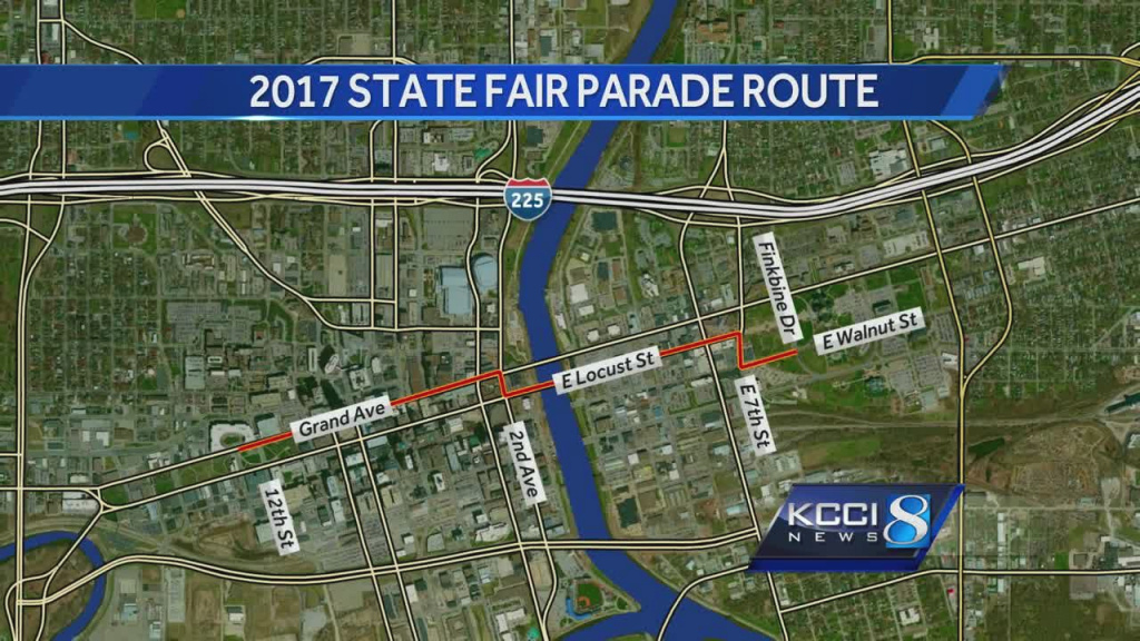 Downtown Construction Alters Iowa State Fair Parade Route in Iowa State Fair Map
