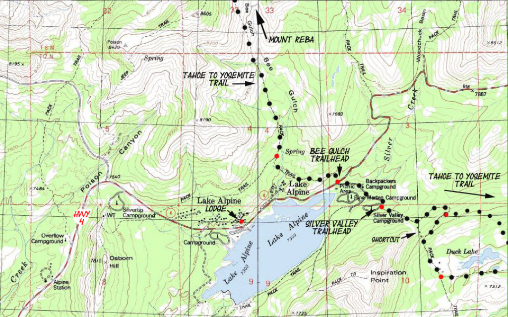 Duck Lake | Ebbetts Pass Scenic Byway with regard to Duck Lake State Park Trail Map