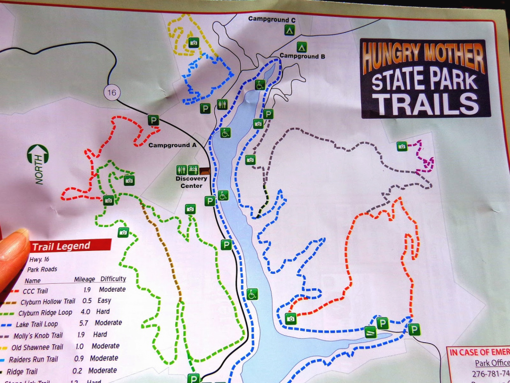 Duke's (Aka Sofie&jerry's) Roadtrips & Trails!: 2014 with Hungry Mother State Park Trail Map