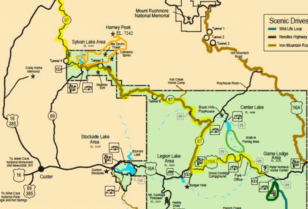 Dump Station Map - Rv Places To Go with regard to Custer State Park Map