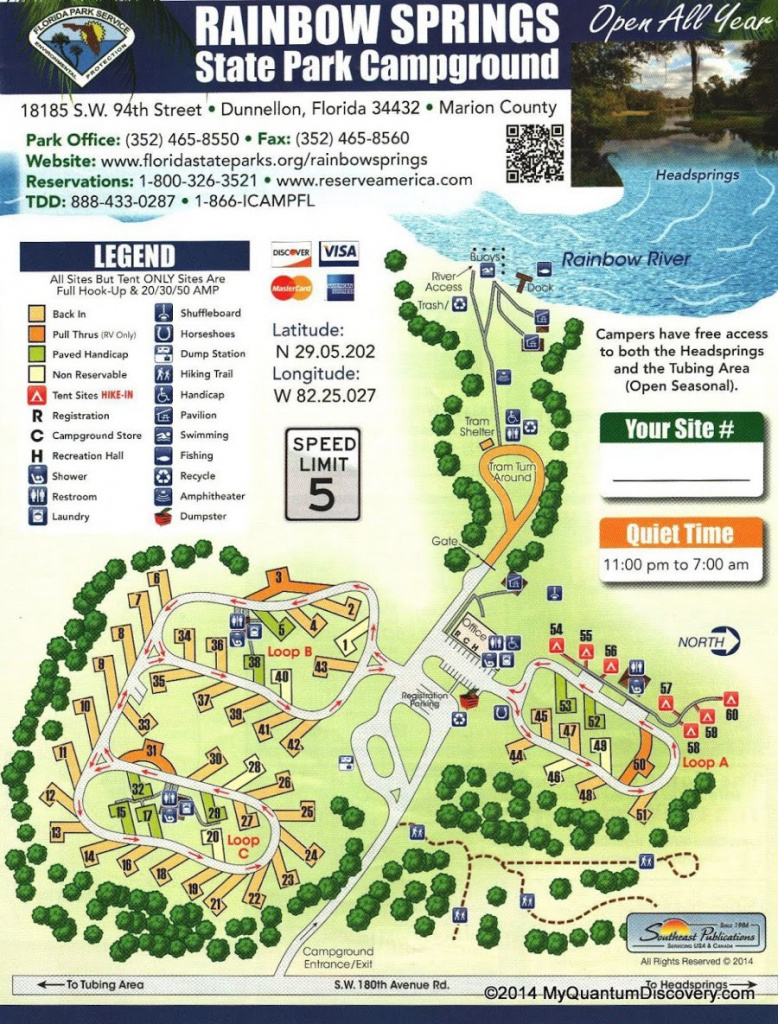 Dunnellon, Fl – Rainbow Springs State Park Review – My Quantum Discovery with Rainbow Springs State Park Campground Map
