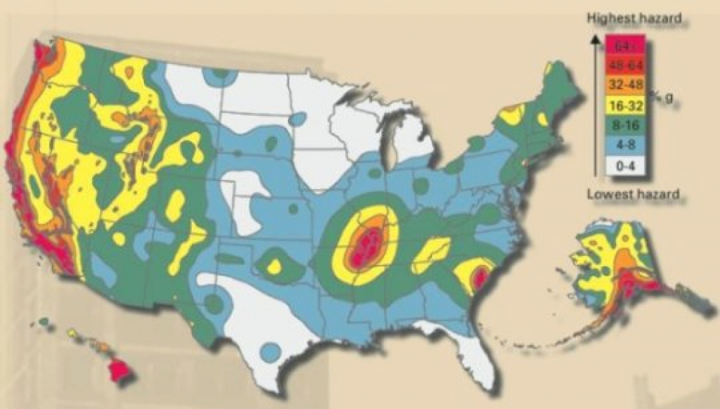 Earthquake Hazard Maps Show How U.s. Shakes With Quakes -- Sciencedaily intended for Usgs Earthquake Map Washington State