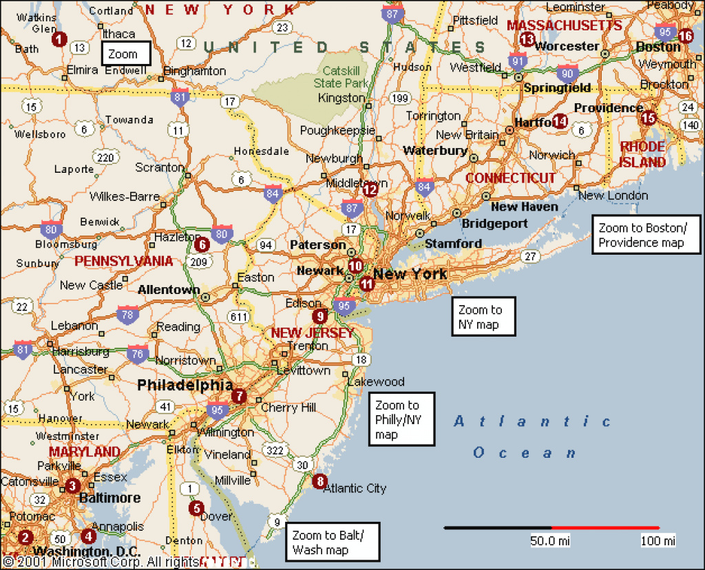 East Coast America Map And Travel Information | Download Free East regarding Map Of Eastern United States With Cities