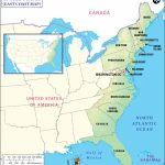 East Coast Map, Map Of East Coast, East Coast States Usa, Eastern Us In East Coast States Map