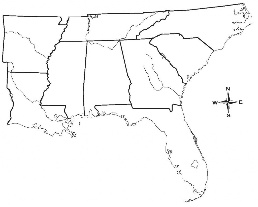 East Coast Of The United States Free Map Blank For Outline Eastern Throughout Blank Map Of East Coast States