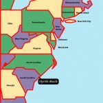 East+Coast+Map | Myrtle Beach Is Situated On The East, Or Atlantic Throughout East Coast States Map