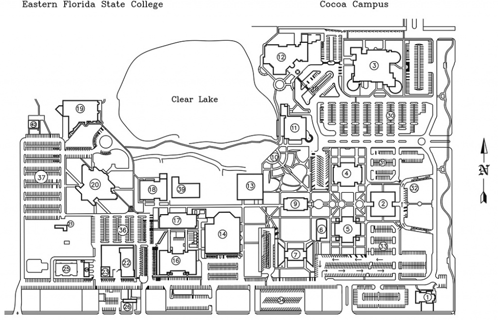 Eastern Florida State College | Cocoa Campus Maps pertaining to Florida State Colleges Map
