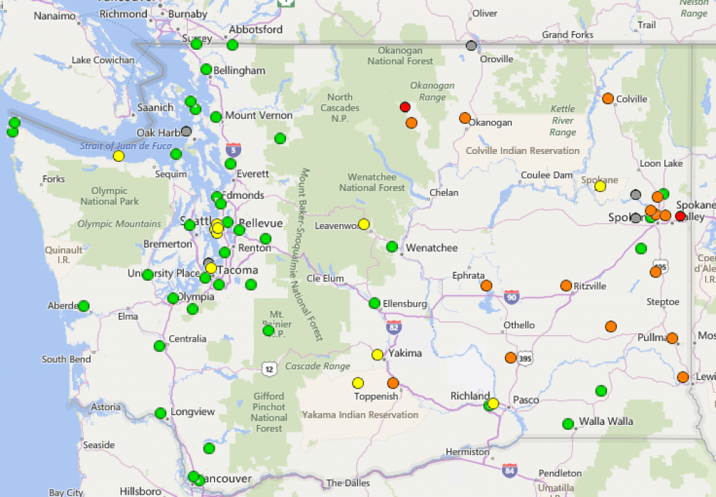 Ecoconnect: Measuring Air Quality Around The State with Washington State Air Quality Map
