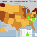 Economic Geography Of Tobacco [1600X1200] : Mapporn With Cigarette Prices By State Map