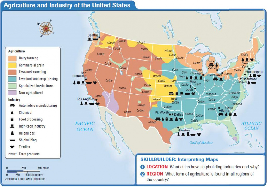 Economy And Culture Of The United States intended for United States Industry Map