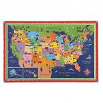 Eeboo United States Map Puzzle, 100 Pieces : Puzzles   Best Buy Canada Inside United States Product Map
