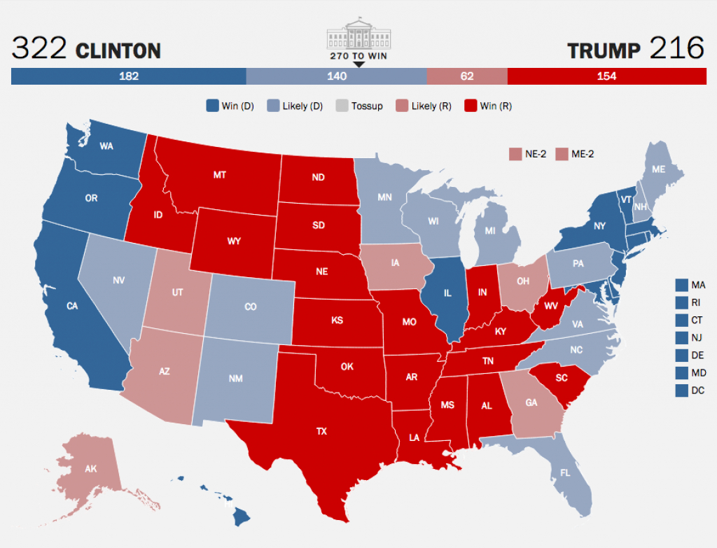 Election 2016: 7 Maps Predict Paths To Electoral Victory | Time with Trump Support By State Map