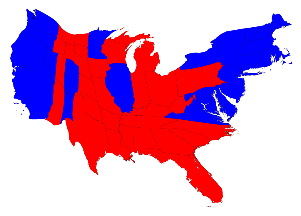 Election Maps for States Trump Won Map