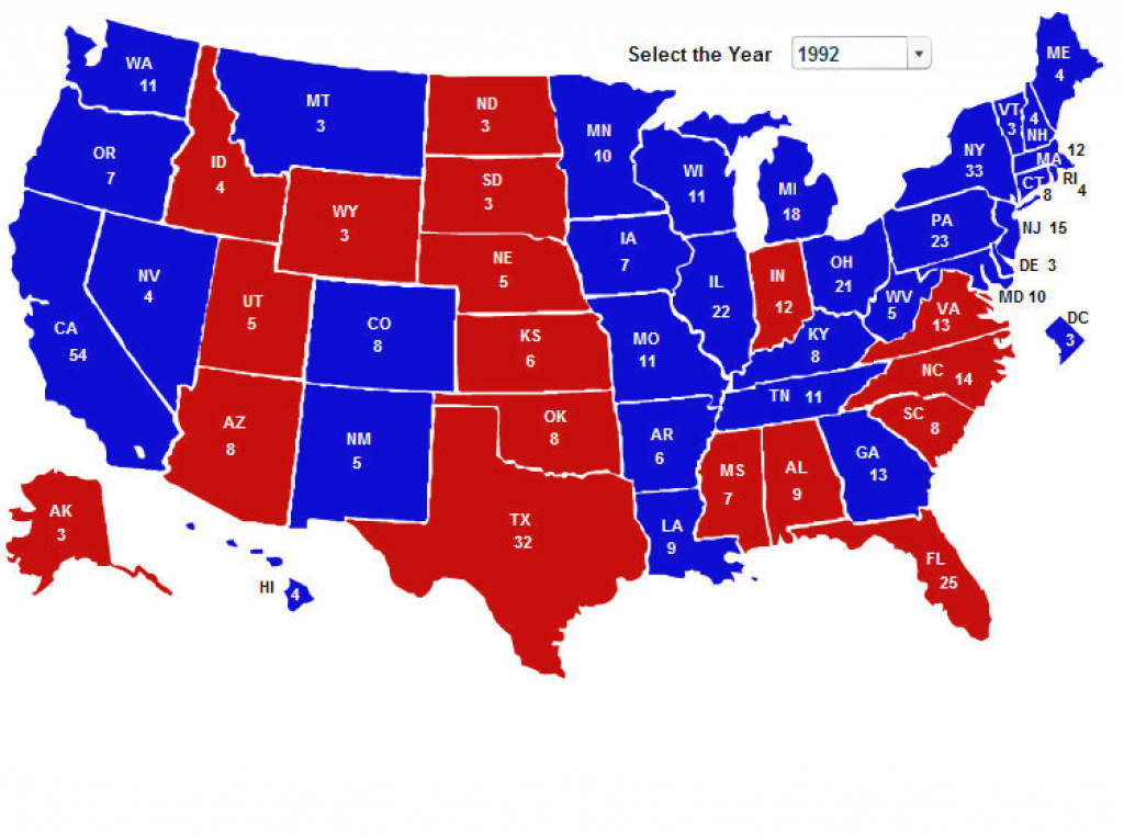 Electoral Vote Maps From 270Towin | Political Maps with States Hillary Won Map