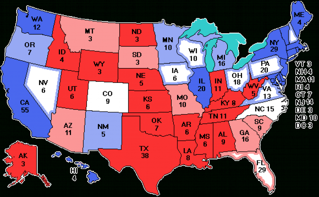 Electoralvote throughout Electoral Votes By State Map