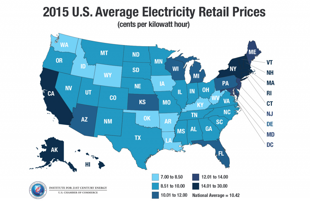 Electricity Prices Rise For 30 States, But Some State Leaders Want within Gas Prices Per State Map