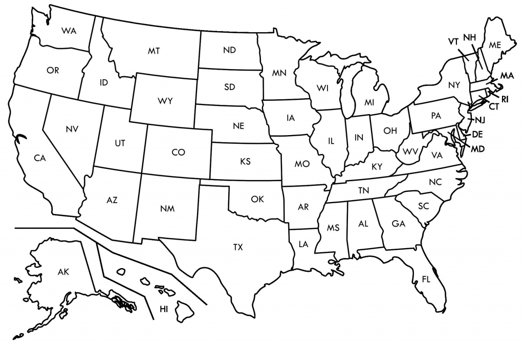 Empty Us Map Az Zip Code Map regarding Empty 50 States Map