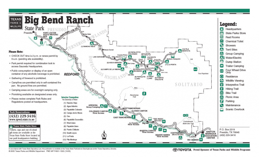 Equestrian Trails regarding Big Bend State Park Map